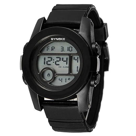 Cronómetro cronógrafo,Relojes digitales Relojes multifunción Impermeable Luminoso Piscina Jalea reloj de Estudiantes masculinos y