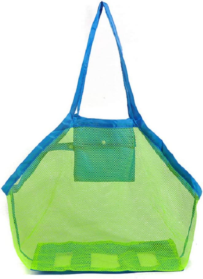 Large Mesh Tote Bag Clothes Toys Carry All Sand Away Beach Bag 45 x 30 x 45 cm