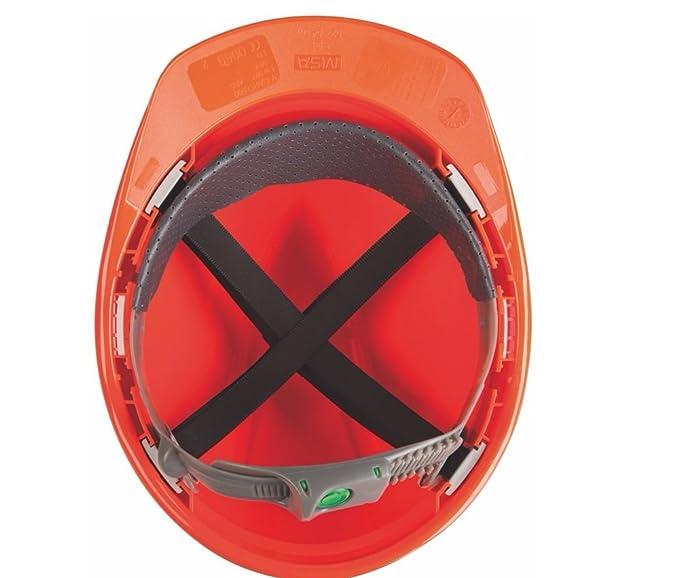 Casco de Protección MSA V-Gard con Ajuste Deslizante PushKey - Casco de Trabajo Casco de Seguridad Casco de Construcción, Color: Blanco: Amazon.es: ...