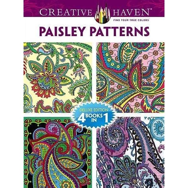 Dover Publications Book, Creative Haven Paisley Pattern (Creative Haven Coloring  Books): Dover, Noble, Marty, Baker, Kelly A., Baker, Robin J.:  0800759779338: Amazon.com: Books