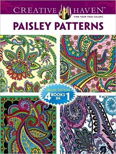 dover publications book creative haven paisley pattern creative haven coloring books dover marty noble kelly a baker robin j baker 0800759779338 - Creative Haven Coloring Books