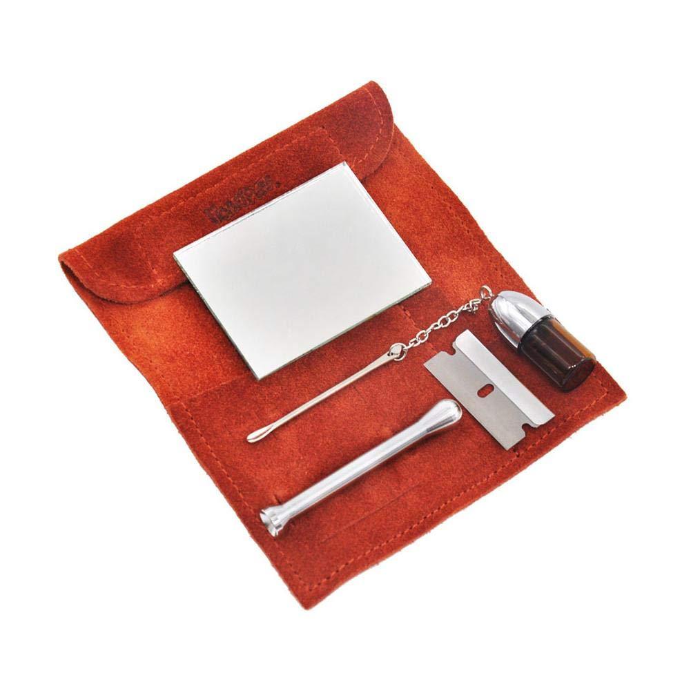 Sac de Rangement,Suede Pack Tabac Tabac Tabouret Analyseur,Kit Distributeur de Poudre de Maquillage