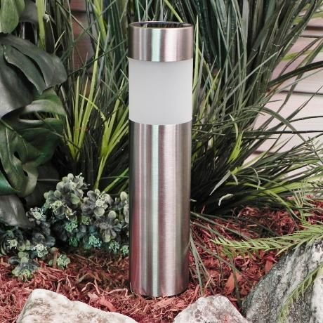 Solar Lights Outdoor 6Pack Pathway Bollard Light Decorative Garden Stake Decorations Waterproof Path Landscape Lighting Bright White LED Yard Decor Driveway Stakes Bollards for Lawn Walkway