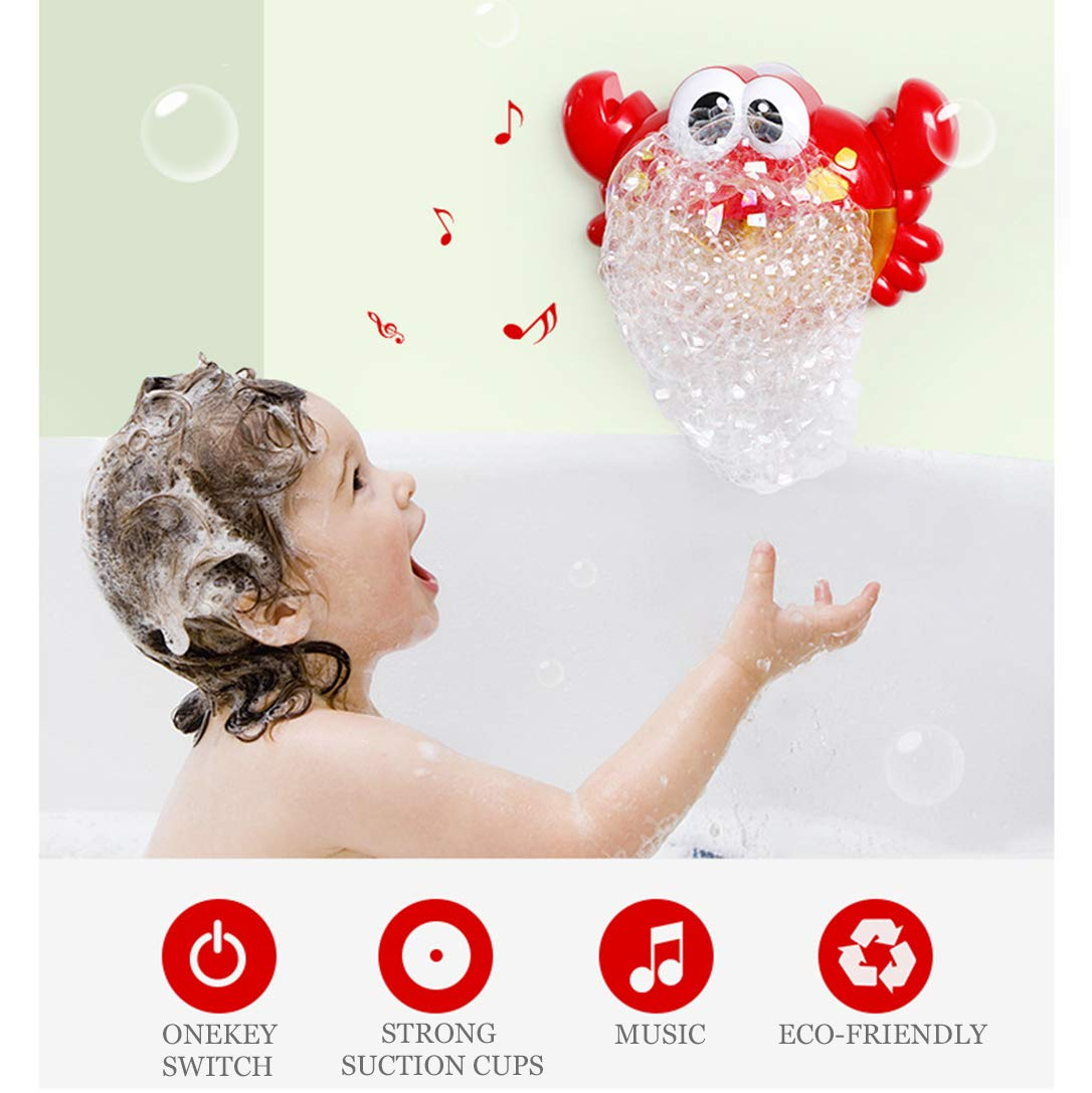 Frudaca Bubble Machine Bubble Maker Automatic Bubble Blower Battery Operated Musical Crab Bath Bubble Toys for Kids//Baby//Boys//Girls