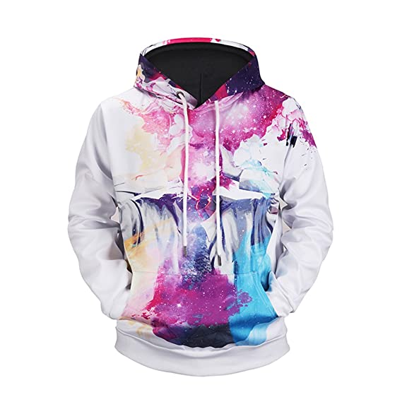 CARMELAA EU and USA Style Hoodies New 3D Printing Outwear Streetwear Sweatshirt With Hat Special Design Tops Plus Size 5XL at Amazon Mens Clothing store: