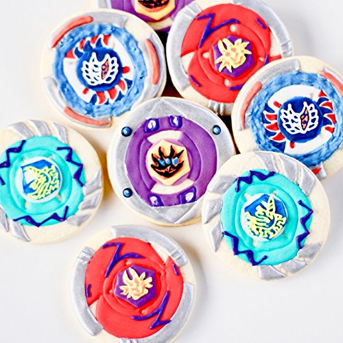 ½ Dz. Bey Blades Cookies! Putting a Spin on Japanese Animation! Random Assortment! Anime Birthday Party Gift or Theme! -