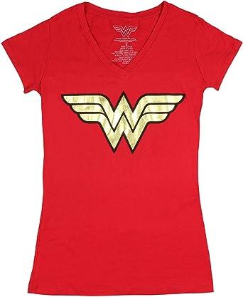 DC Comics Wonder Woman Golden Logo Junior T Shirt