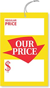 """SmartSign""""Regular and Special Price"""" Tags with String 