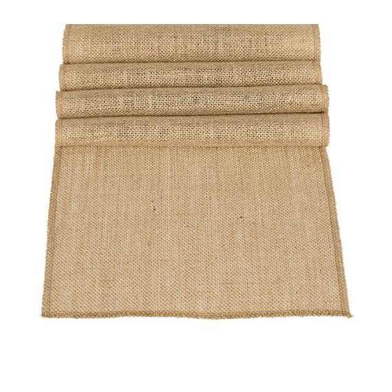 """Ling's moment 12 x 108 Inches Jute Farmhouse Table Runner Burlap Table Decor Bamboo for Winter Rustic Wedding… - STRONG DURABLE: Crafted out of light tan artificial jute hessian, no smell, It does not shed. Perfect for thanksgiving Christmas. This also ensures that they are durable. EXTRA LONG: Measuring 12"""" wide x 108"""" long, these burlap fabric table runners for parties are perfect for displaying on banquet tables, candy buffet tables, dining tables and more for most special occasions, including Christmas, Valentine's Day, St. Patrick's Day, Easter, Thanksgiving and Halloween. FRAY-RESISTANT: Tightly hemmed, the hessian table runner does not fray. This means you can use it again and again, special event after special event! - table-runners, kitchen-dining-room-table-linens, kitchen-dining-room - 61mBgtnXNPL. SS570  -"""