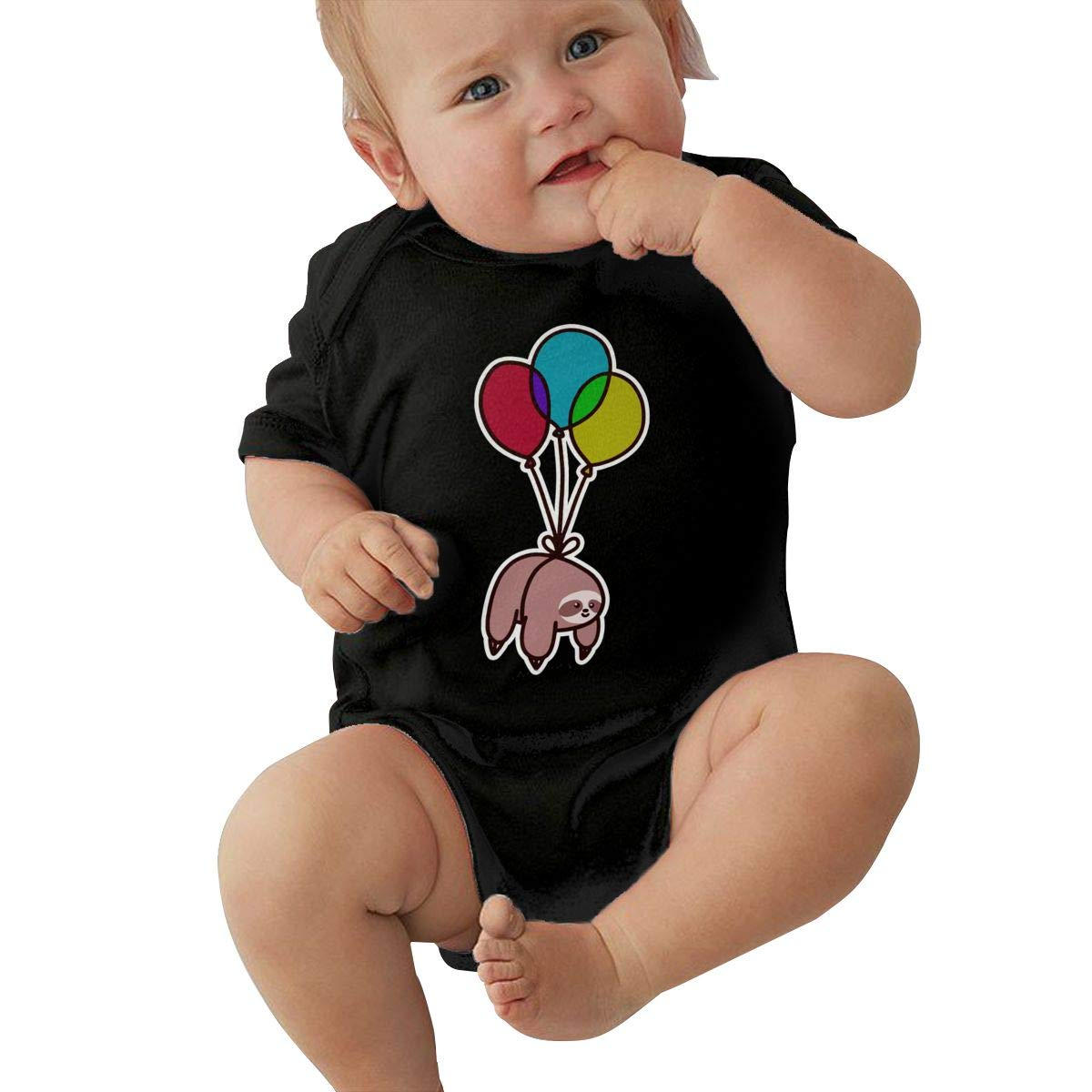 Balloon Sloth Toddler Baby Girl Boy Romper Jumpsuit Outfit Short Sleeved Bodysuit Tops Clothes
