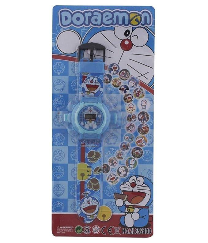 buycrafty Doraemon Cartoon imágenes Proyector Reloj Niños Reloj ...