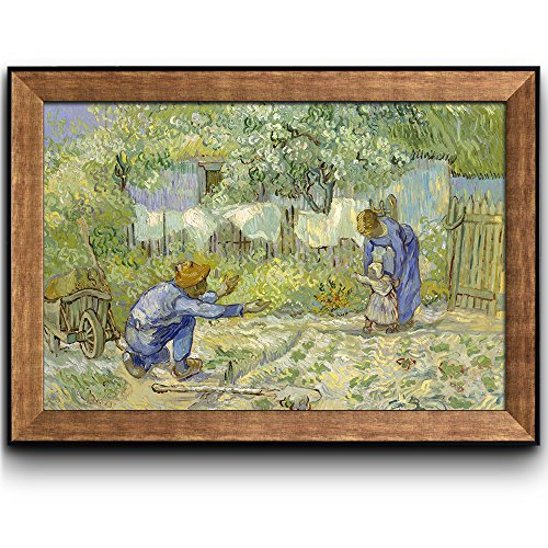First Steps by Vincent Van Gogh Oil Painting Impressionist Artist Framed Art
