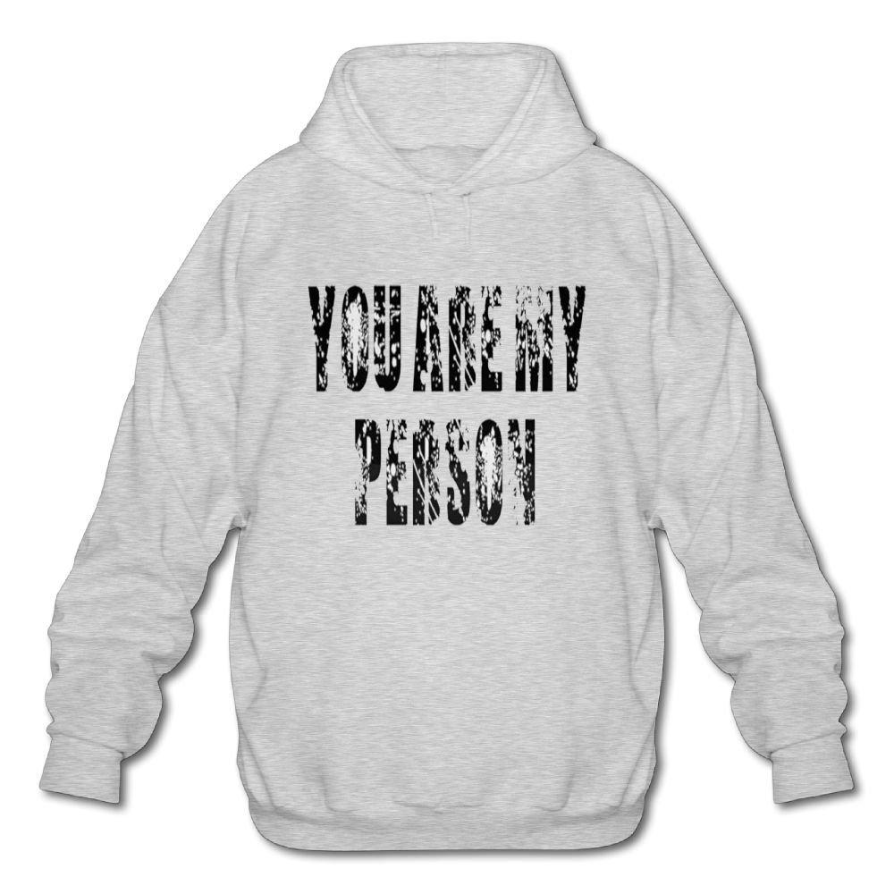 Achunlan Mens Long Sleeve Cotton Hoodie You are My Person1 Sweatshirt