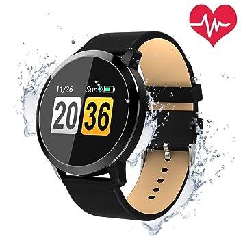 OUKITEL W1 Reloj Pantalla táctil conectada IP67 Rastreador de actividad física a prueba de agua cardíaca Podómetro Monitor de sueño Reloj inteligente ...