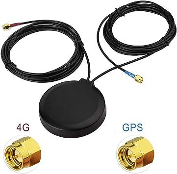 Superbat GPS + 4G LTE Antena de combinación magnética con Conector SMA para GPS Unidad de navegación de la Cabeza del Coche telemática 4G LTE teléfono ...