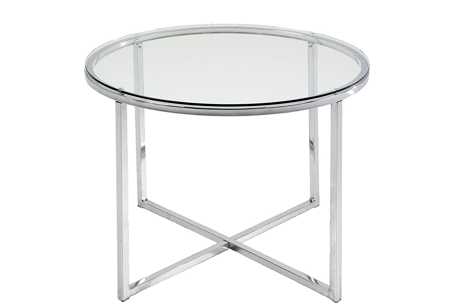 ABC Home Scandinavian Style Chrome Lamp Table, Silver ABC designs 0426862046