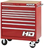 """Waterloo PCA-36821RD Professional HD Series 8-Drawer Rolling Tool Cabinet, Red Finish, 36"""" W"""