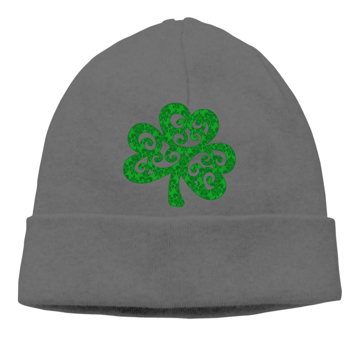 FORDSAN CP Shamrock Mens Beanie Cap Skull Cap Winter Warm Knitting Hats.