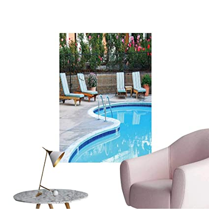 Amazon.com: Wall Decals Beautiful Swimming Pool Surrounded ...