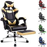 ALFORDSON Gaming Chair Racing Chair Executive Sport Office Chair with Footrest PU Leather Armrest Headrest Home Chair in…