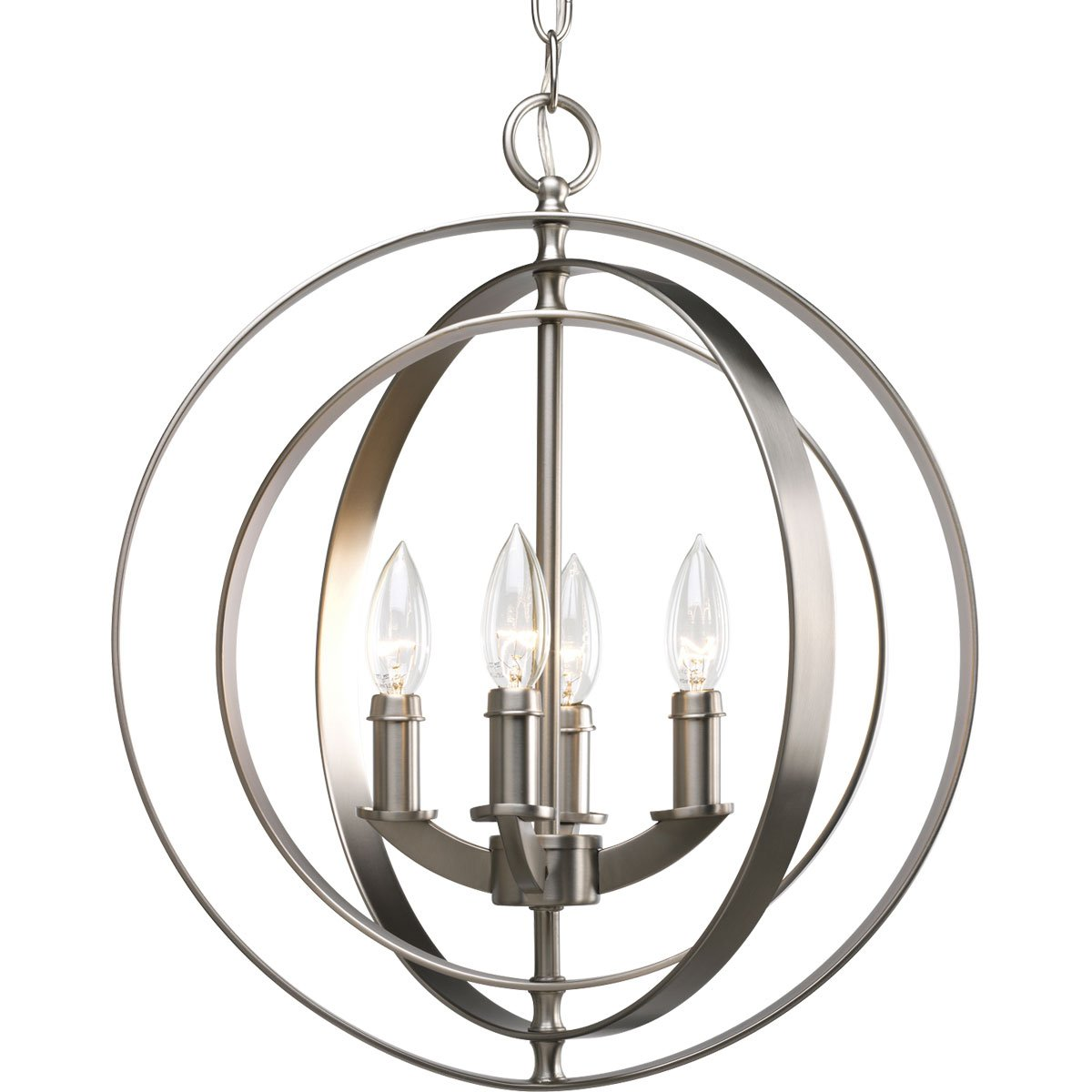 Progress Lighting P3827-126 4-Light Sphere Foyer Lantern with Pivoting Interlocking Rings Burnished Silver - Ceiling Pendant Fixtures - Amazon.com  sc 1 st  Amazon.com & Progress Lighting P3827-126 4-Light Sphere Foyer Lantern with ...