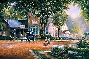 24*36 inch canvas print painting,George Kovach -Boys of Summer【Frameless】