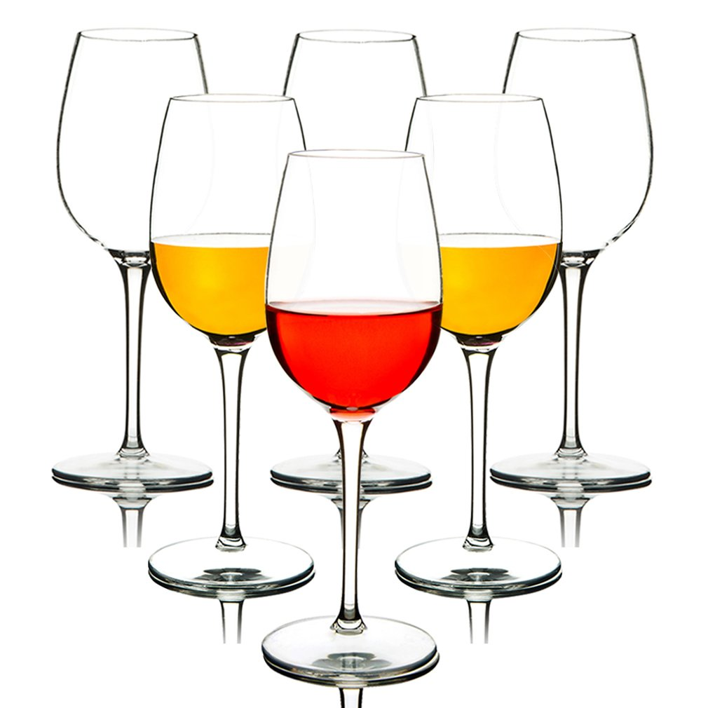 MICHLEY Unbreakable Red Wine Glasses, 100% Tritan Plastic Shatterproof Wine Goblets, BPA-free, Dishwasher-safe 12.5 oz, Set of 6 by MICHLEY
