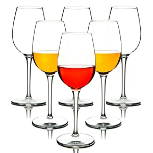 MICHLEY Unbreakable Red Wine Glasses, 100% Tritan Plastic Shatterproof Wine Goblets, BPA-free, Dishwasher-safe 12.5 oz, Set of 6