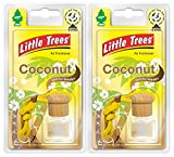 Little Trees LTBZ2 Bottle Air Freshener, Coconut Fragrance, Set of 2