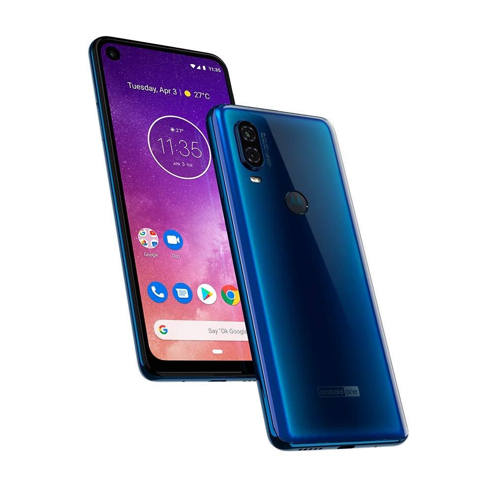 Motorola One Vision (128GB) 6.3 Full HD Display, 48MP Camera, Dual SIM US + GLOBAL 4G LTE GSM Factory Unlocked XT1970-1 - International Version ...