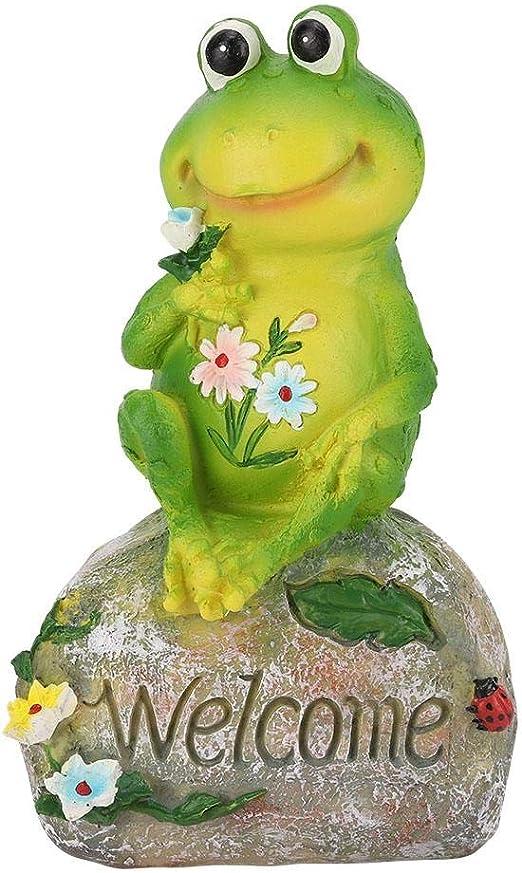 Resina Ranas Estatua Exterior Interior jardín Piscina Estanque césped césped Animal Ornamento estatuilla Modelo Mano de Obra Regalo: Amazon.es: Hogar
