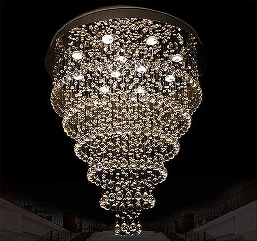 Luz de techo de cristal Lámpara de araña de lujo creativa moderna ...