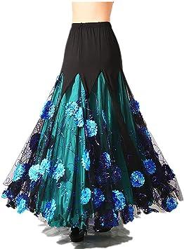 Vestido de Baile de salón de Flamenco español Vals Tango Latino ...