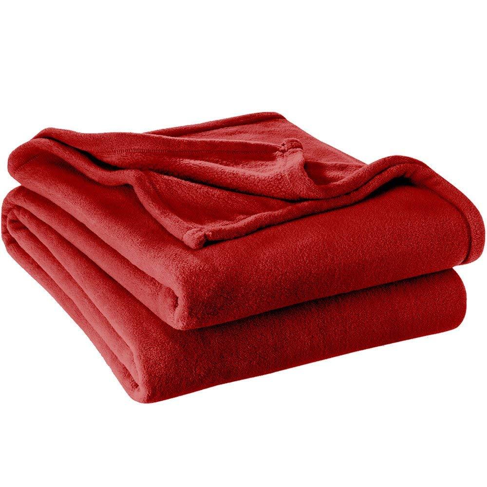 Amazon.com: MISC - Manta de microfelpa de lujo, color rojo ...