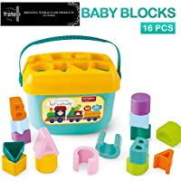 FRATELLI Exclusive Collection of Toddler Basic Toys (Baby's First Shape Sorting Blocks Learning Baby's First Shape Sorting Blocks Learning - Shape sorter, Colors, ABCD,)