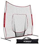 Rukket 9x9 Baseball / Softball Net | Practice Hitting, Pitching, Batting and Catching | Backstop Screen Equipment Training Aids | Includes Carry Bag