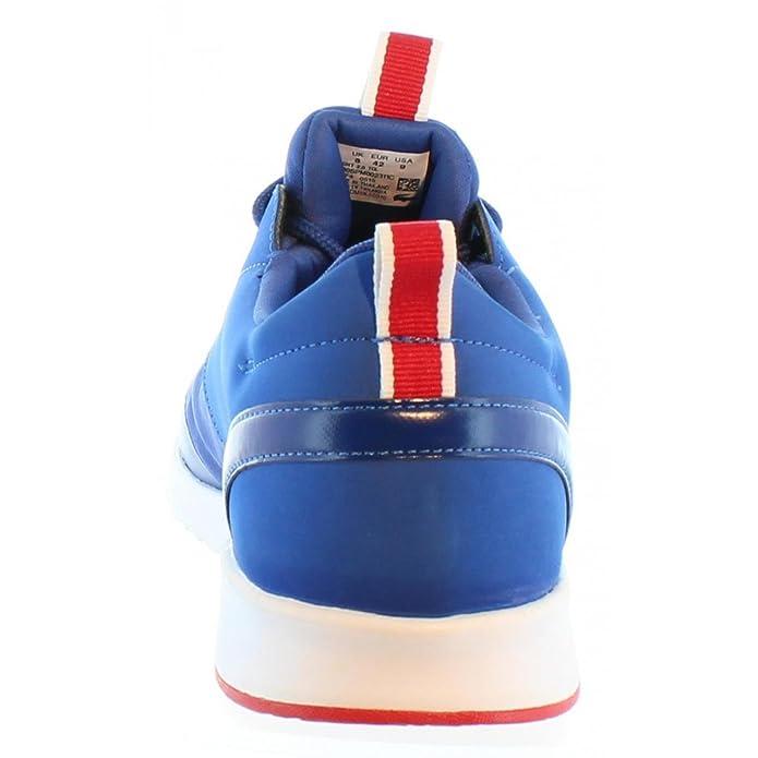 03e335fdb2e4 Lacoste Zapatillas Deporte de Hombre 30SPM0023 Light 11C Blu-Blu Talla 44   Amazon.es  Zapatos y complementos