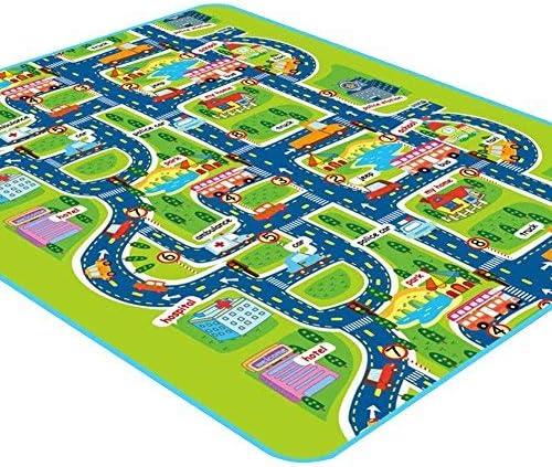 Ritapreaty Alfombra de Juegos para niños, Ideal para la Vida de la Ciudad con Coches y Juguetes, para Aprender y divertirse a los niños, Alfombra de Juego educativa para el tráfico de