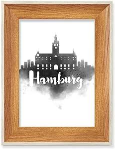 Amazon.com - Hamburg Germany Landmark Ink City Painitng