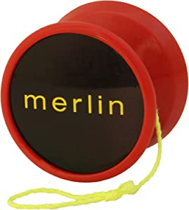 Yoyo King Merlin Pro Yoyo with Ball Bearing Axle and Extra String … (red)