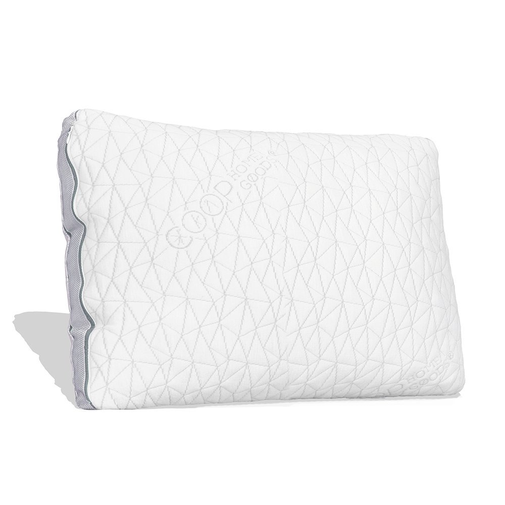 Coop Home Goods – Shredded Memory Foam with Zippered Cover and Adjustable Hypoallergenic Cooling Gel Infused Memory Foam Fill – Eden Pillow – Single – Queen - White product image