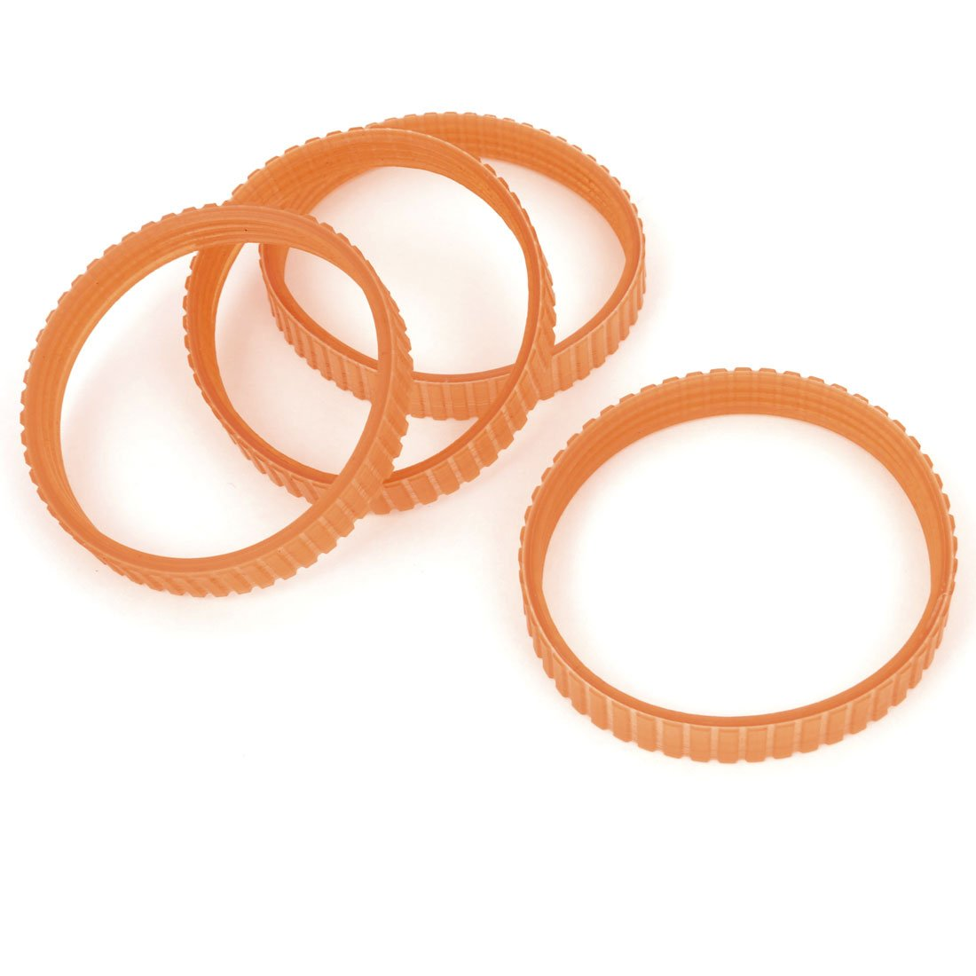 sourcingmap 4 Pcs Orange Rubber Electric Planer Power Tool Electric Cutting Machine Spare Part Driving Belt 225mm Girth a14050800ux0054