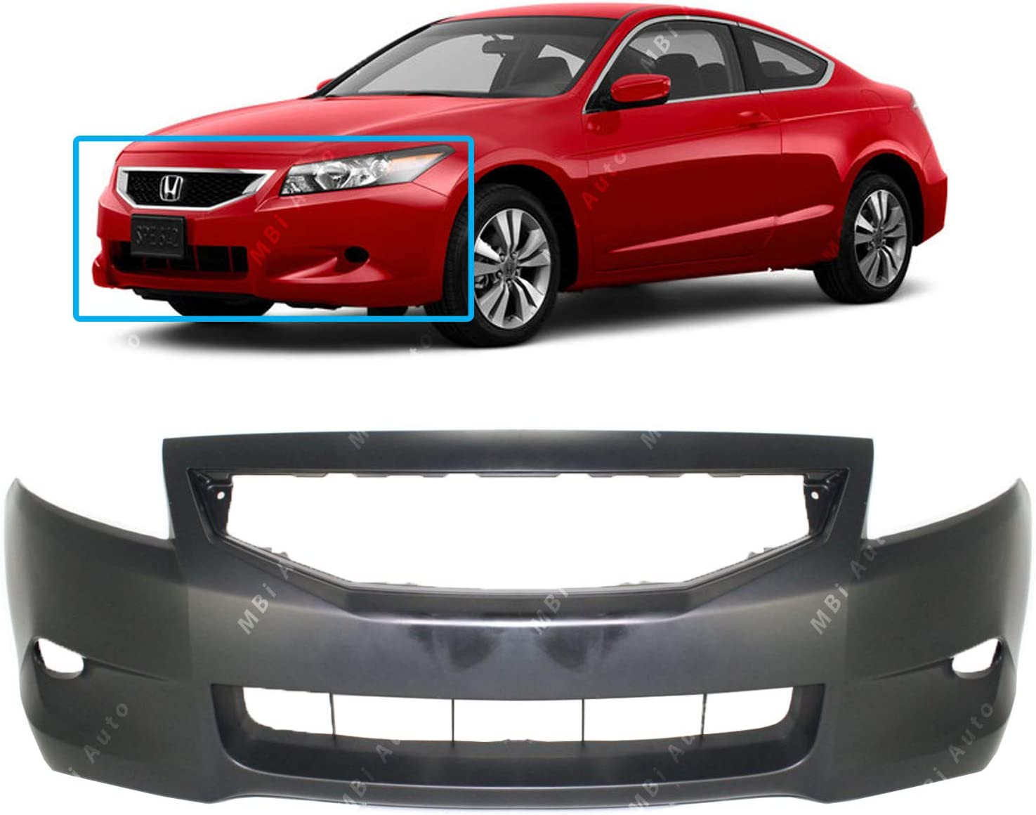 Rear Bumper Cover for 2008-2012 Honda Accord Coupe 2 Door NEW Painted To Match