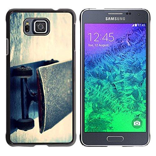 (STPlus Skater Skateboard Sports Hard Cover Case for Samsung Galaxy Alpha)