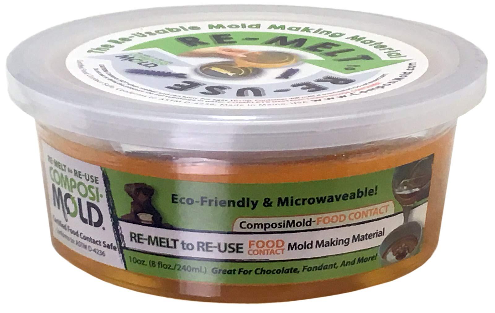 ComposiMold Food Contact Safe 10 Ounce. Reusable Molding Material, Re-heat To Re-use