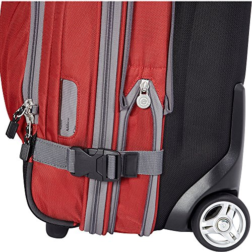 """eBags TLS Mother Lode Mini 21"""" Wheeled Duffel Bag Luggage - Carry-On - (Sinful Red)"""