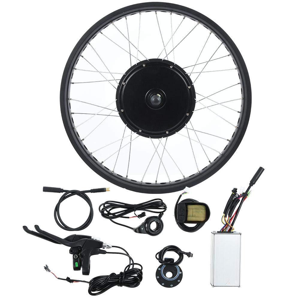 Ebikeコンバージョンキット、ブレンドEbikeパネルキット、ロードバイク用48V 1000Wモーター20インチホイールLCDメーター リアドライブ回転フライホイール