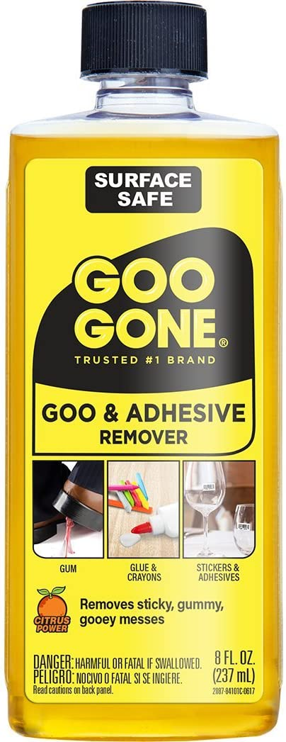 B00006IBNJ Goo Gone Adhesive Remover - 8 Ounce - Surface Safe Adhesive Remover Safely Removes Stickers Labels Decals Residue Tape Chewing Gum Grease Tar 61mBqM33erL