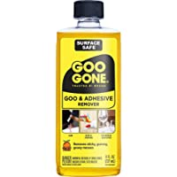 Goo Gone Adhesive Remover - 8 Ounce - Surface Safe Adhesive Remover Safely Removes Stickers Labels Decals Residue Tape…