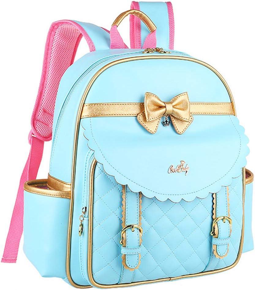 Fanci Waterproof PU Bow-knot Primary School Backpack for Princess Girls Elementary School Bookbag Back Pack